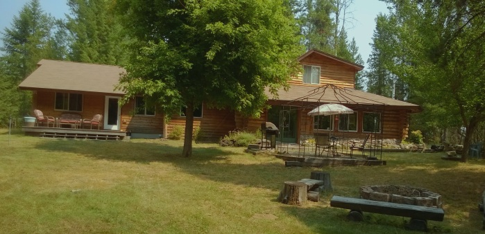 The log home that housed our lives for 15 years.